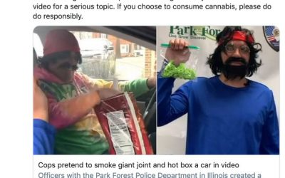Illinois police dress up as Cheech and Chong to make a few points about pot