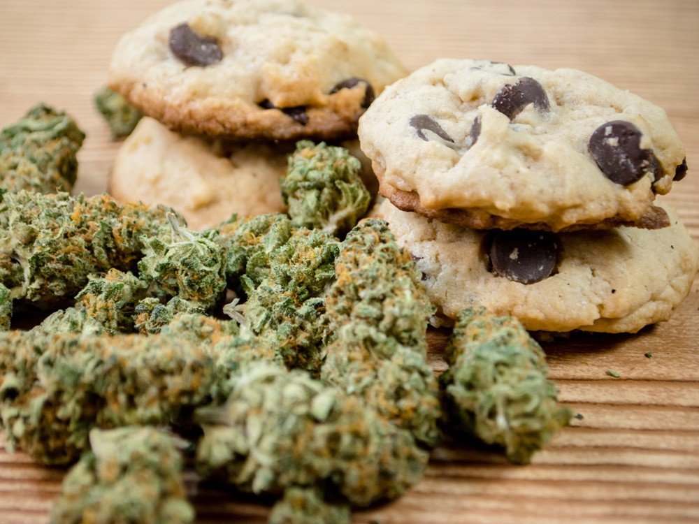 """In total, police seized 156 jars of cookies believed to contain cannabis, 94 cakes, 7.8 kilograms of cannabis and 31-litres of """"liquid cannabis."""" /"""